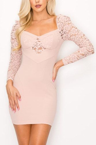 Lace lover cutout long sleeve dress-id.cc52767a