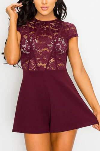 Floral sheer lace combo romper-id.cc52770
