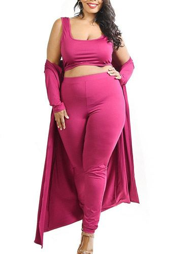 Plus solid 3 piece legging set-id.cc52785