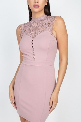 Sleeveless lace mini dress-id.cc52811a