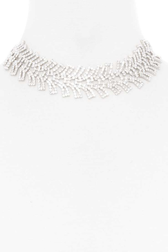 Rhinestone wide short necklace-id.cc52827