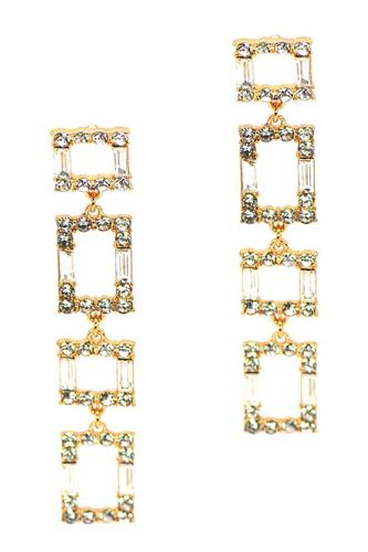 Square rhinestone drop earring-id.cc52836