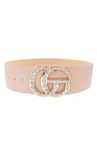 Multi rhinestone buckle belt-id.cc52907