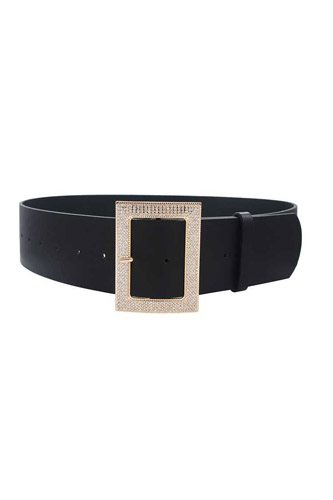 Rectangle rhinestone buckle belt-id.cc52909