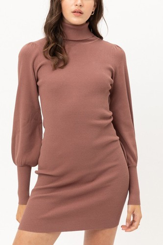 Turtle neck sweater dress-id.cc52925