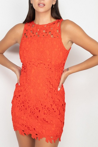 Floral lace bodycon dress-id.cc52959