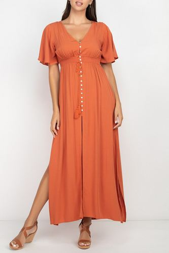 Side slit smocked waist maxi dress-id.cc52961a