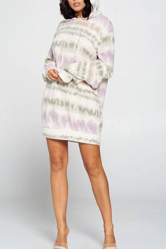 Terry brushed print sweater dress-id.cc52994