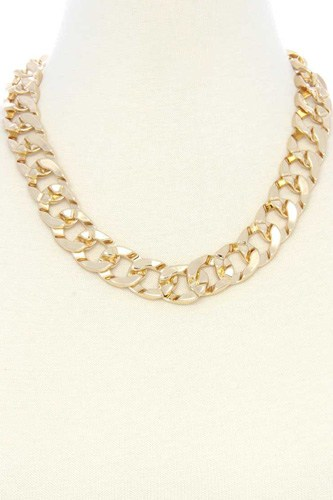 Cuban link chain metal necklace-id.cc53041