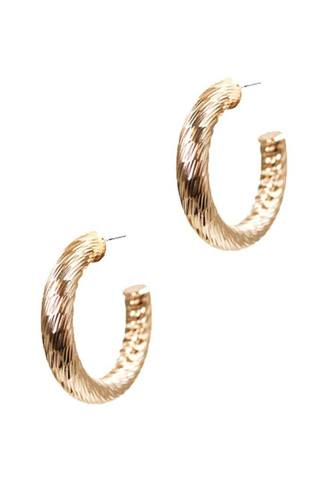 Cute fashion twisted 1.25 inch open hoop earring-id.cc53050