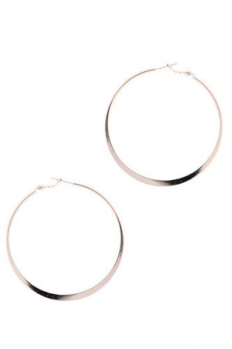 14k gold dipped basic metal 60mm hoop earring-id.cc53051