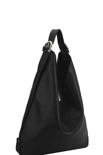 Smooth textured buckle hobo bag-id.cc53063