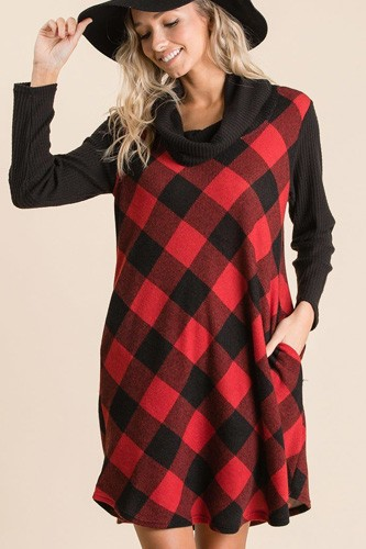 Buffalo plaid tartan swing dress-id.cc53069a