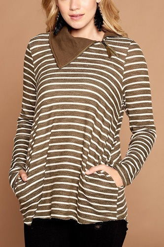 Striped loose-fit knit sweater-id.cc53076