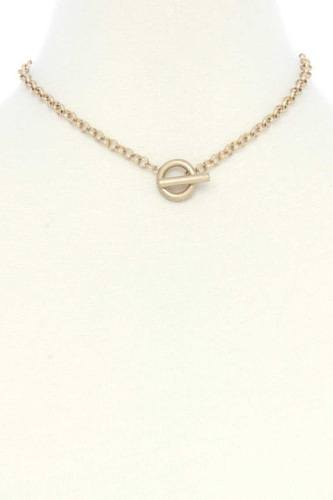 Metal toggle clasp necklace-id.cc53114