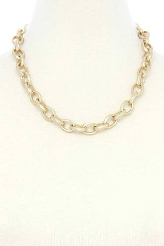 Circle link metal necklacecircle link metal necklace-id.cc53117
