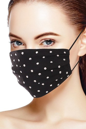 3d shiny silver metal studs cotton fashion face mask-id.cc53147a