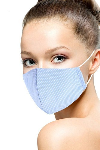 Cotton stripe 3d reusable face mask-id.cc53153