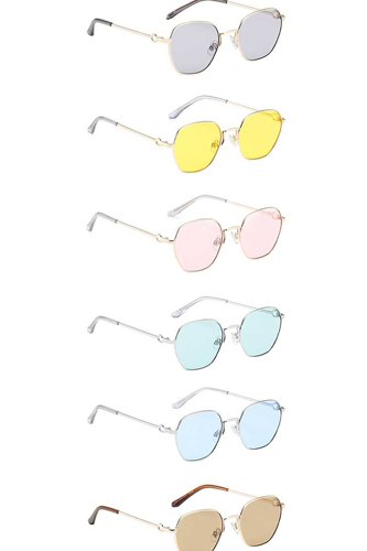 Dazzling small metallic rounded sunglasses-id.cc53982
