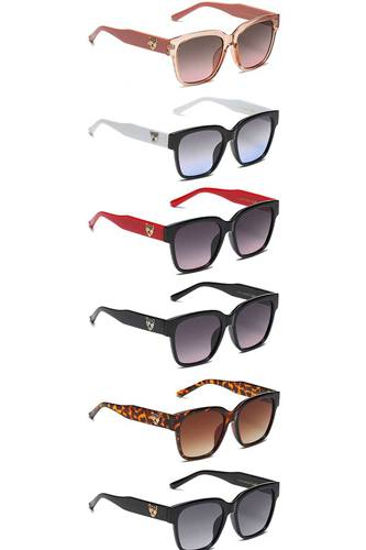 Trendy animal side stud sunglasses-id.cc53985