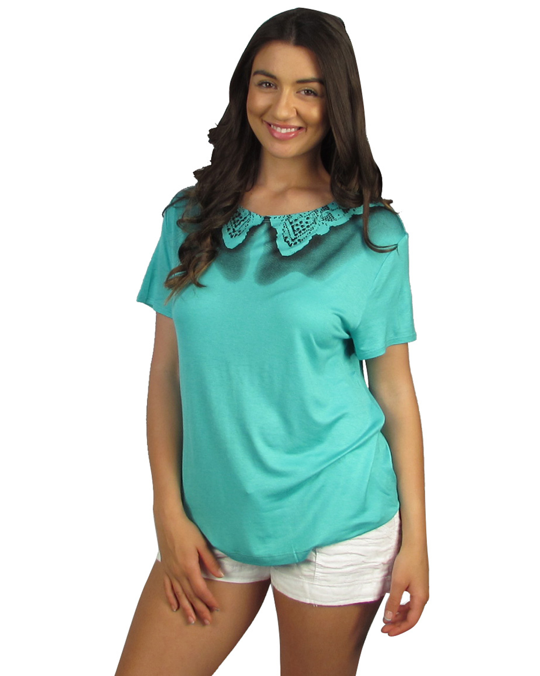 Short sleeve round neck top-id.26894