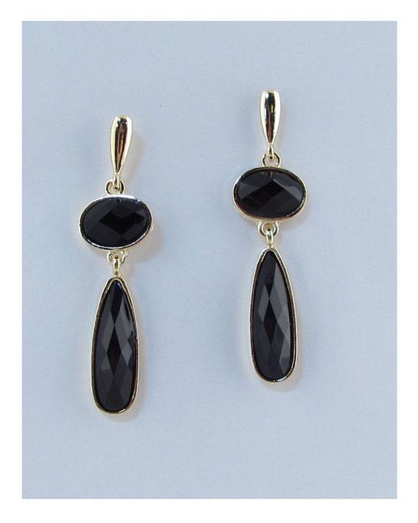 Drop faux stone earrings-id.26950