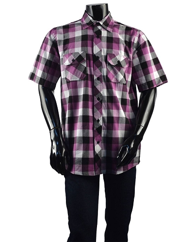 Classic Fit Checkered Buttom Up Shirt-id.28012A