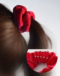 Rhinestone Decorated Elastic Hair Band-id.CC28876