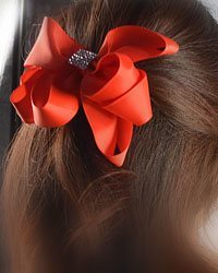 Crystal Paneled Hair Bow-id.CC28877