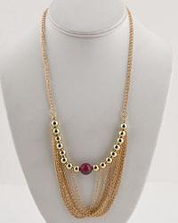 "12"" Multiple Layered Opera Necklace W/ Bead Detail-id.CC28993"