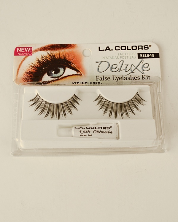 Deluxe False Eyelashes Kit w/ Adhesive-id.29869