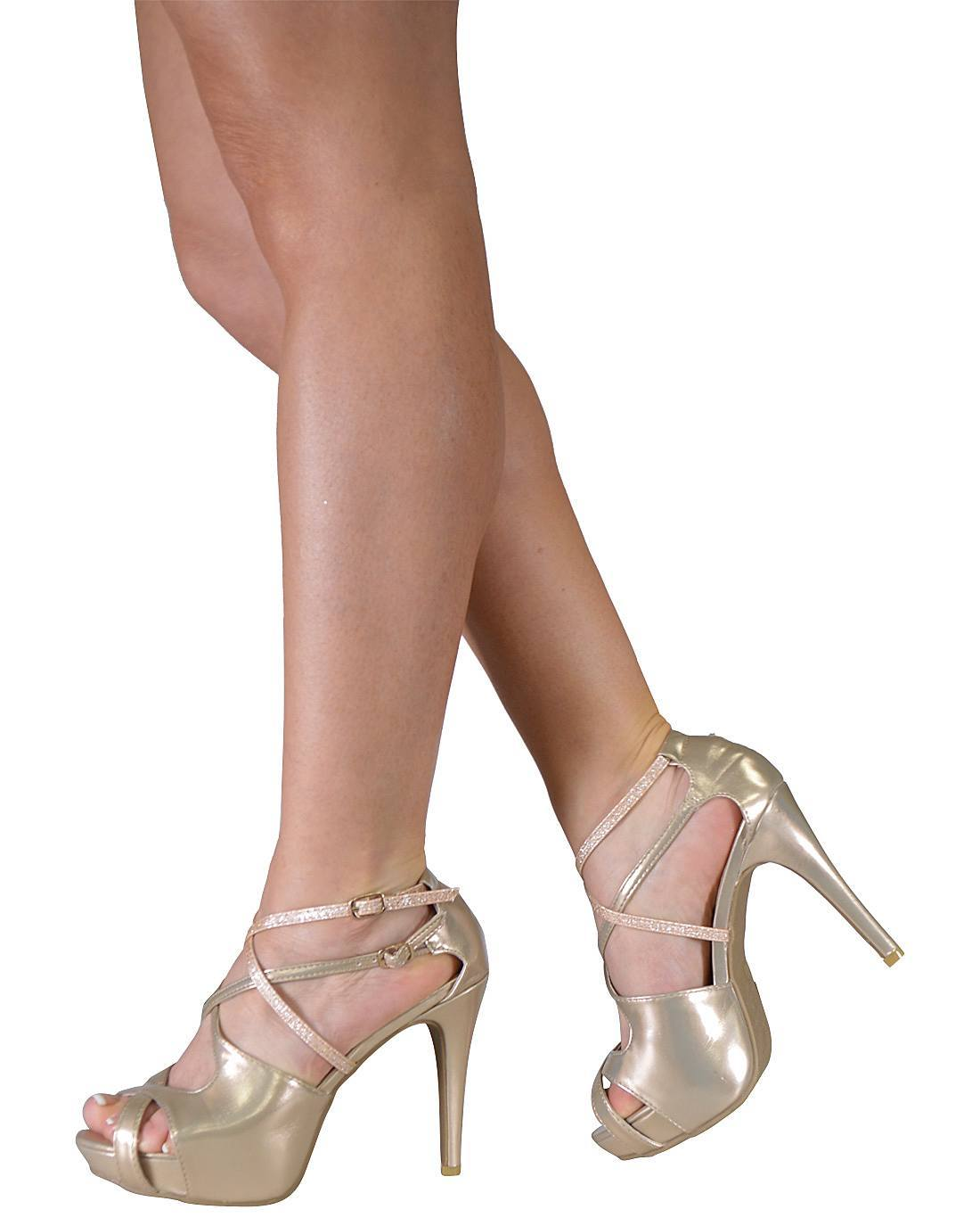 Strappy Peep Toe Ankle Strap Cuff Stiletto with Double Buckle Closure-id.31176b