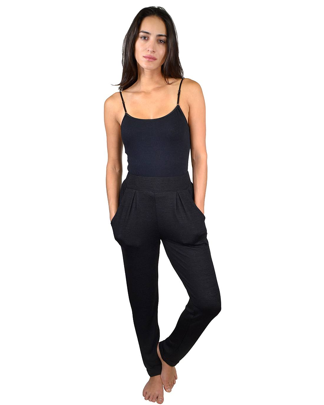 Solid High Waist Pleated Track Pants-id.33108