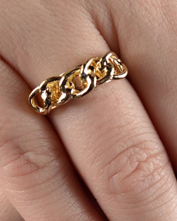 Curb Chain Adjustable Ring-id.CC28713
