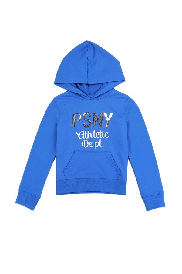 Girls AÉROPOSTALE 7-14 hooded  french terry sweatshirt with sequin logo-id.CC34439