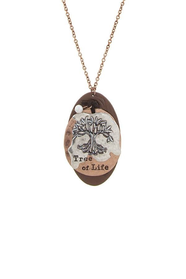 Tree of life disk pendant necklace id34531 aloadofball Images