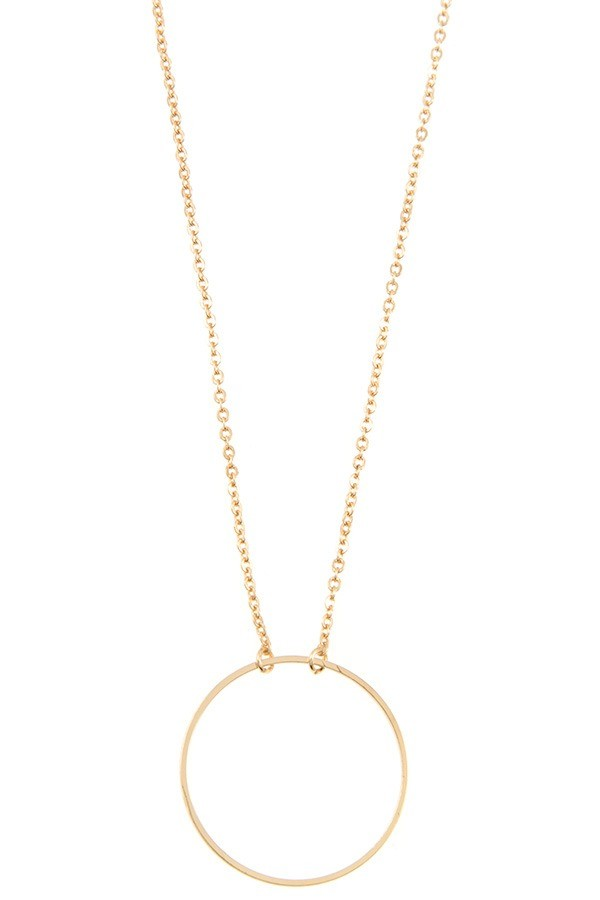 Pendant necklace id35190 ring pendant necklace id35190 gold aloadofball Images