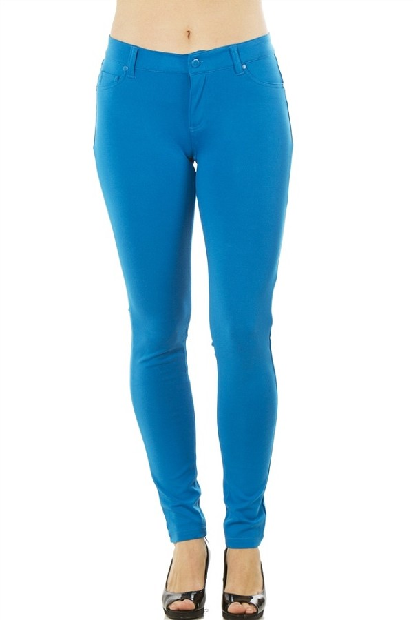 Ladies fashion stretch cotton blend leggings-id.CC35915