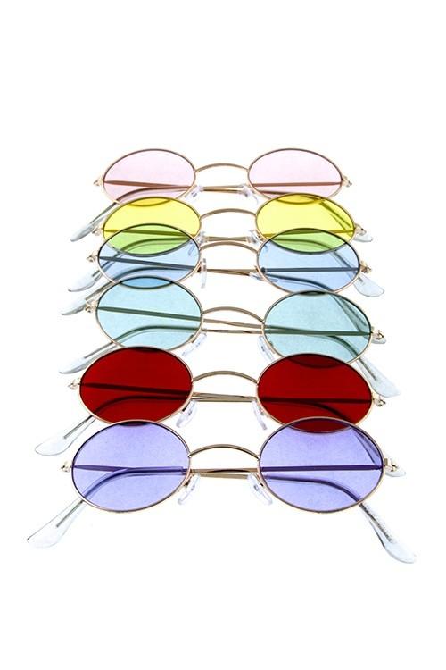 7ebfa1d94eae Womens oval metal vintage style retro fashion sunglasses-id.CC36074