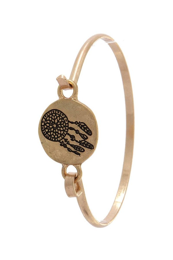 Dream catcher engraved cuff bracelet-id.cc36832