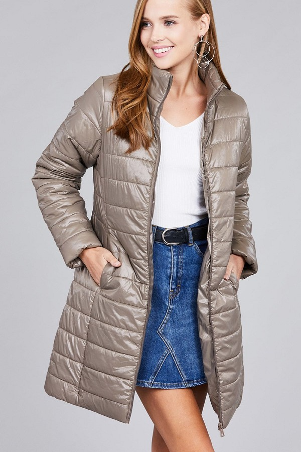 Long sleeve quilted long padding jacket-id.cc37062