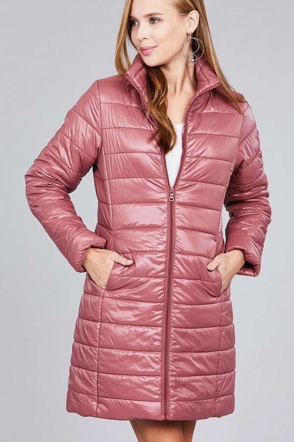 Long sleeve quilted long padding jacket-id.cc37062d