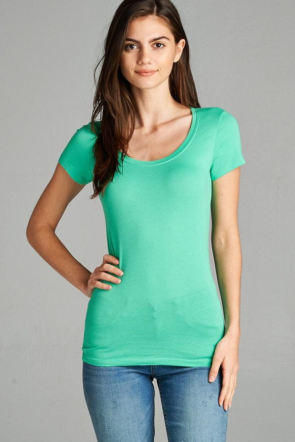 Basic short sleeve scoop-neck tee-id.cc37282i