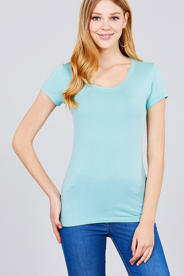 Basic short sleeve scoop-neck tee-id.cc37282s