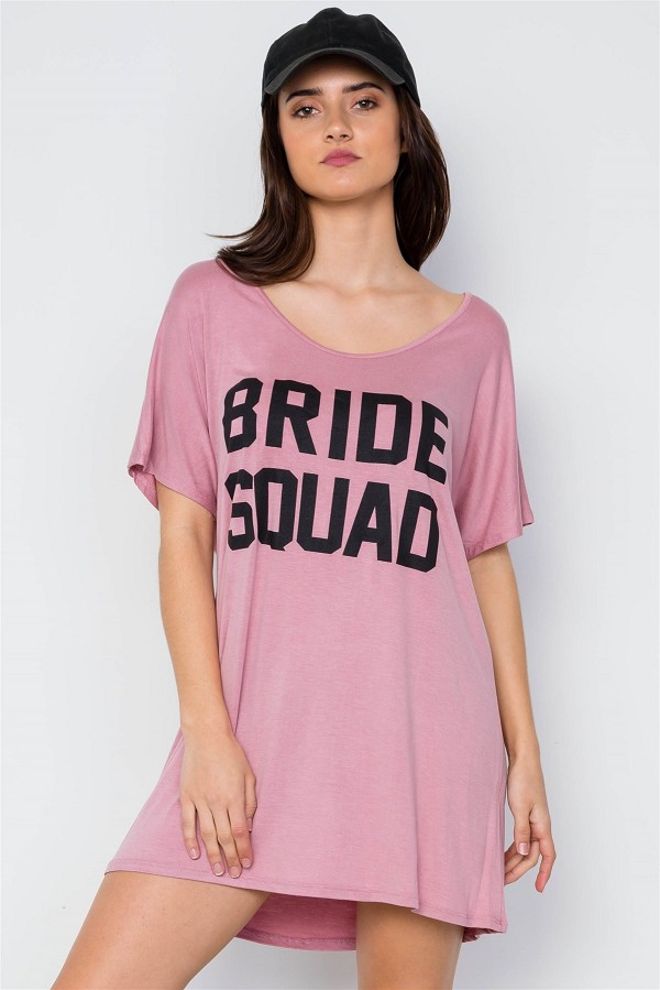 Bride squad graphic short sleeve t-shirt dress-id.cc37484a