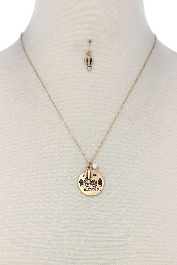 Live simply metal circle necklace-id.cc37509