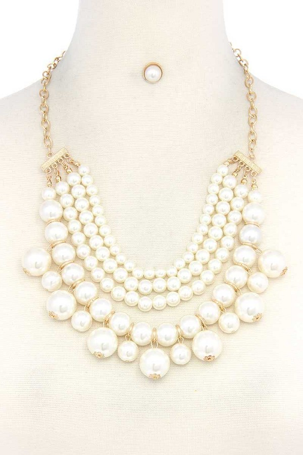 Chunky beaded layered necklace-id.cc37719