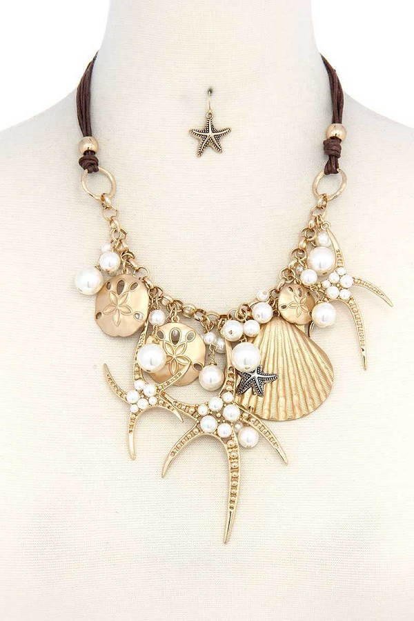 Sea life charm chunky necklace-id.cc37723