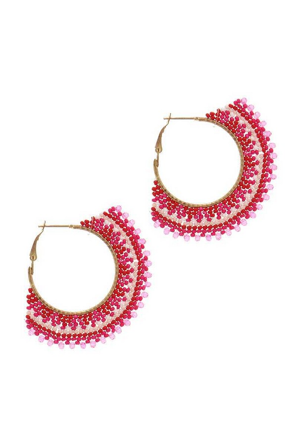 Beaded hoop earring-id.cc37733