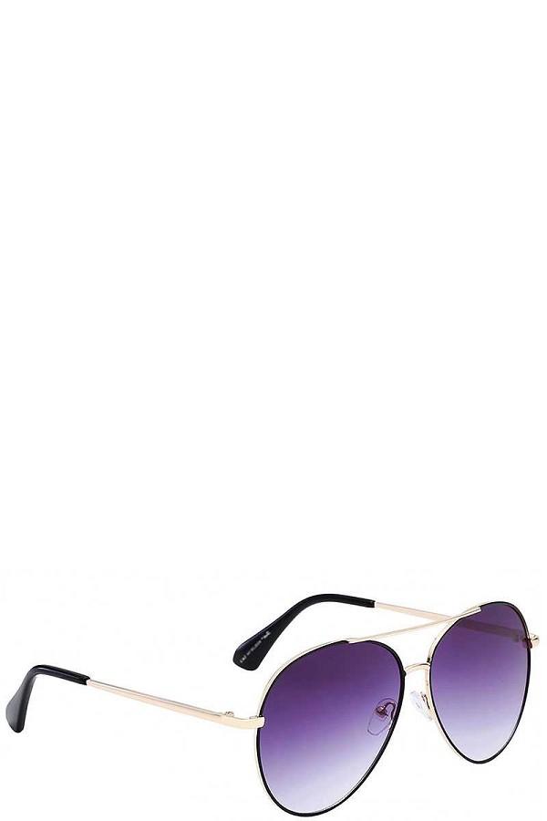 12bb18f35d124 Giselle contemporary classic teardrop metallic aviator ladies sunglasses  -id.cc38613. Purple